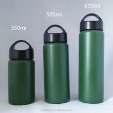 vacuum thermal sport bottle wide mouth drinking water kettle