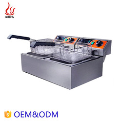 Junjian 2 tank potato chip kitchen Frying machine industrial donut cheap fryer machine