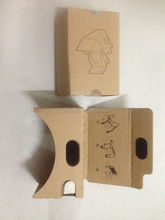 paper cardboard 2.0 virtual reality headset google cardboard v2 with custom logo