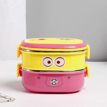 Factory Direct 2 Layers Tiffin Box Lunch/ School Travel Food Container/Stainless Steel Cartoon Lunch Box For Kids
