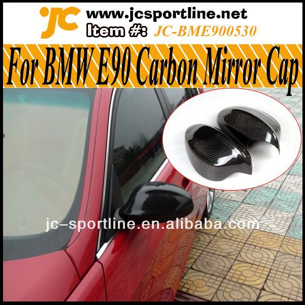 05~08 E90 Carbon Fiber Side Mirror Housings,wing mirror cover For BMW E90