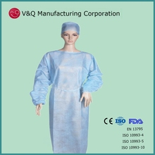Nonwoven orient factory latex free isolation gown