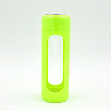 Newly glass water bottle, BPA free glass water bottle with silicone sleeve