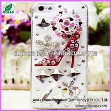 High quality cheap pc diamond rhinestone mobile phone case for iphone 4 5