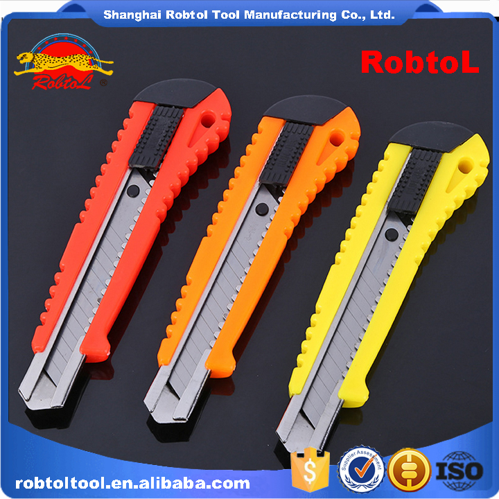 art utility knife retractable blade box cutter art knives snap off lock razor blade plastic shell
