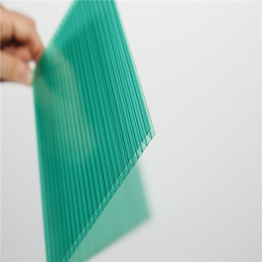 UV-protected clear plastic roofing panels polycarbonate hollow sheet advertising panel