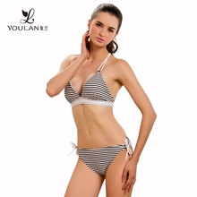 Hot Sell Sexy Halter Top Open Women Photos Micro Mini Bikini