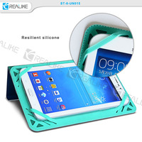 silicone bumper case for 7-8 inch tablets,leather universal case for ipad and for android tablets with two sides use