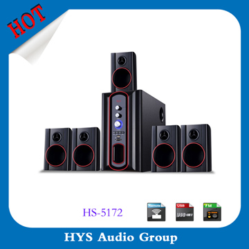Creative low prices 5.1 home theater optical input system with usb sd fm radio
