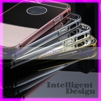 2016 pc mirror back cover case with aluminum bumper for samsung