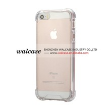 Hard Shell Case For IPhone 5S/SE Clear Crystal Hard Back Case With Soft Bumper