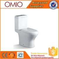 Chaozhou White Color Ceramic Washdown two piece toilet