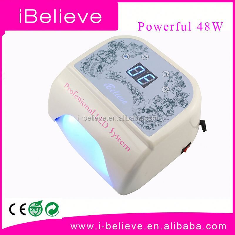 Made in China 48W led light for gel nails lampada uv led 9 w