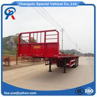 China Cheap Flatbed Container Semi Trailers