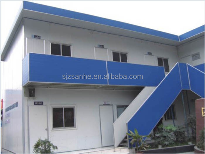 Economic prefabricated sandwich plate steel frame mobile house/kit homes