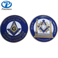 Hot china products custom masonic challenge coin