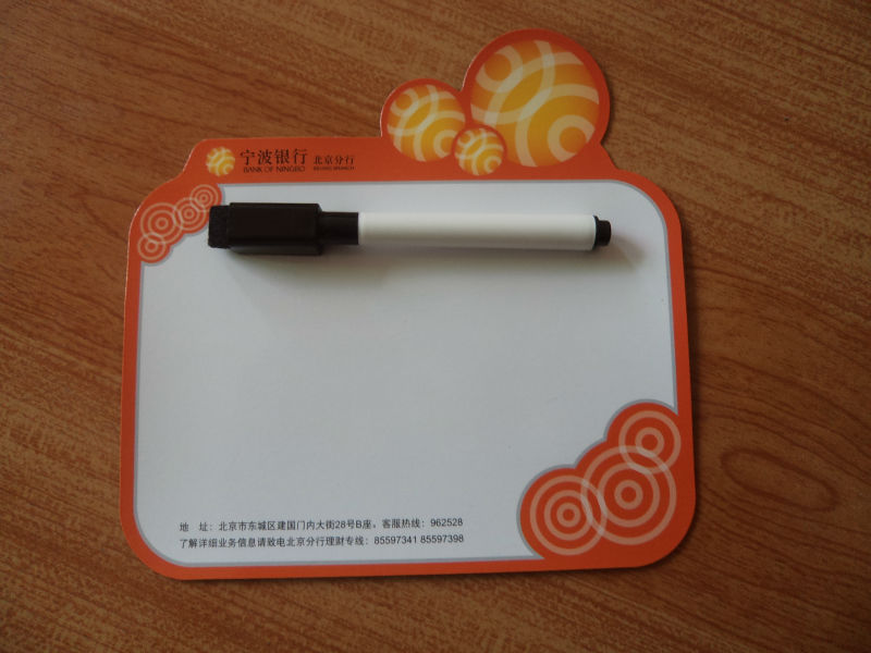 fridge magnet note pad with pen holder