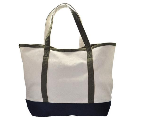Hot Selling Supremarket Large Simple Canvas Shopping Bag