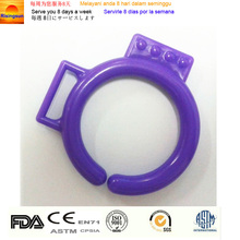Purple plastic ring link chain round plastic snap ring binder plastic retaining ring