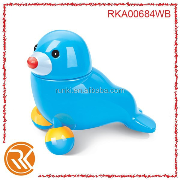 Mini toy animal battery operated sea lion with music and light