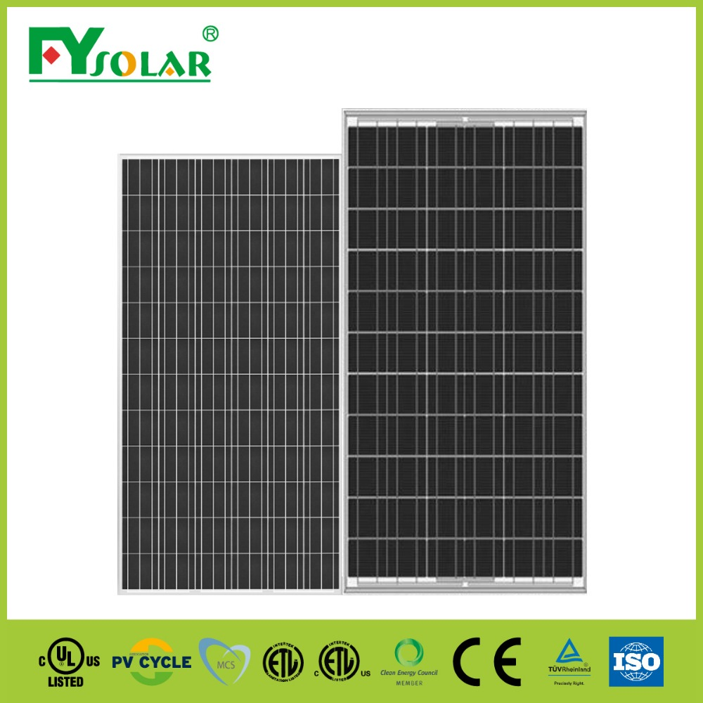 250w poly solar panel for electric solar system from solar cell production line