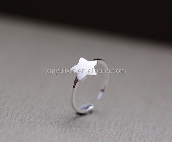 Star designed sterling silver <strong>ring</strong>