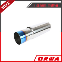High quality universal stainless steel titanium blue exhaust muffler