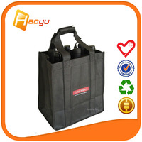 China supplier non woven fabric gift bag for wine packing