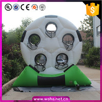 cheap inflatable football shooting game/outdoor ball shooting game/inflatable football board