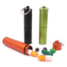 Exquisite Portable Keychain Mini Waterproof Pill Bottle Box Container