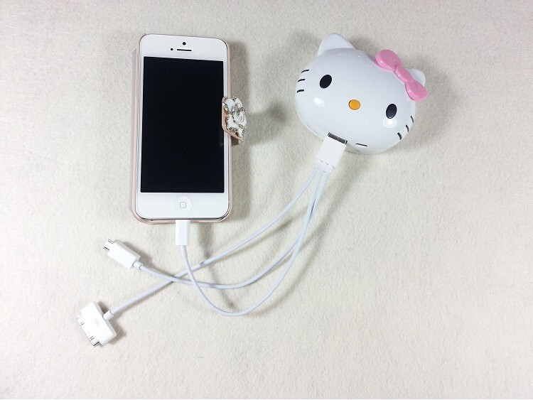 2015 hot selling,hello kitty power bank 8000mAh,cylinder shape power bank