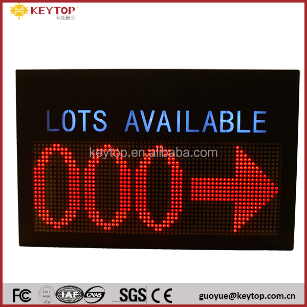 KEYTOP LED Display used for inddoor car park to show parking status
