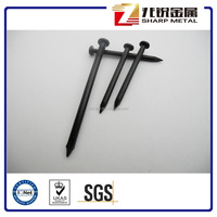 Hardened steel concrete nails, black color steel concrete nails