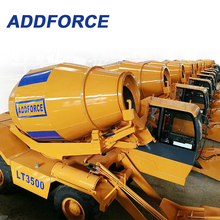 4X4X4, Best sale China Top Brand ADDFORCE self loading mobile concrete mixer LT3500 controlled with hydraulic system