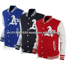 2013 Hot selling fashion casual mens Wool Varsity Jackets/coats