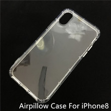 Transparent soft plastic bumper back cover case for apple iphone 8