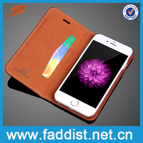 High quality PU leather cell phone case, mobile phone case for iphone 6 case
