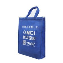 custom blue color pp non woven fabric shopping bag