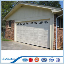 Black Anodized Aluminum Frame Automatic Frosted Tempered Glass Panels Garage Door