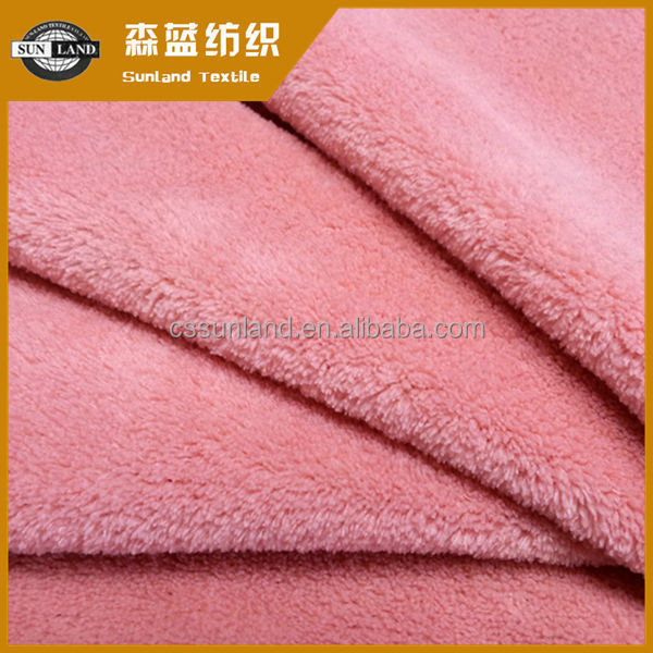 100% polyester coral fleece fabric for bed blanket
