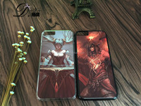lol heroes silicon phone case with water transfer printing for Samsung note