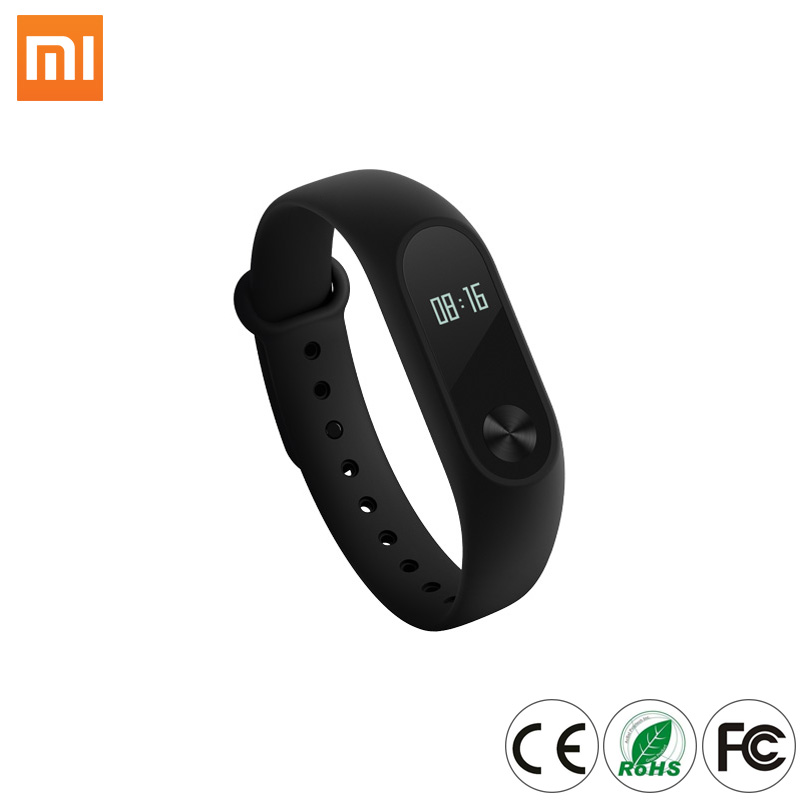 "2017 New arrival Xiaomi Mi Band 2 MiBand 2 OLED 0.42"" Display Heart Rate Monitor IP67 Smart Bracelet For IOS Android Cell Phone"