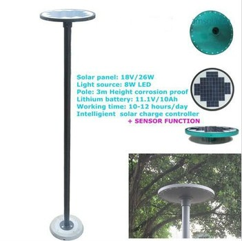 Smart lighting design all in one solar street light with monocrystalline silicon ingot