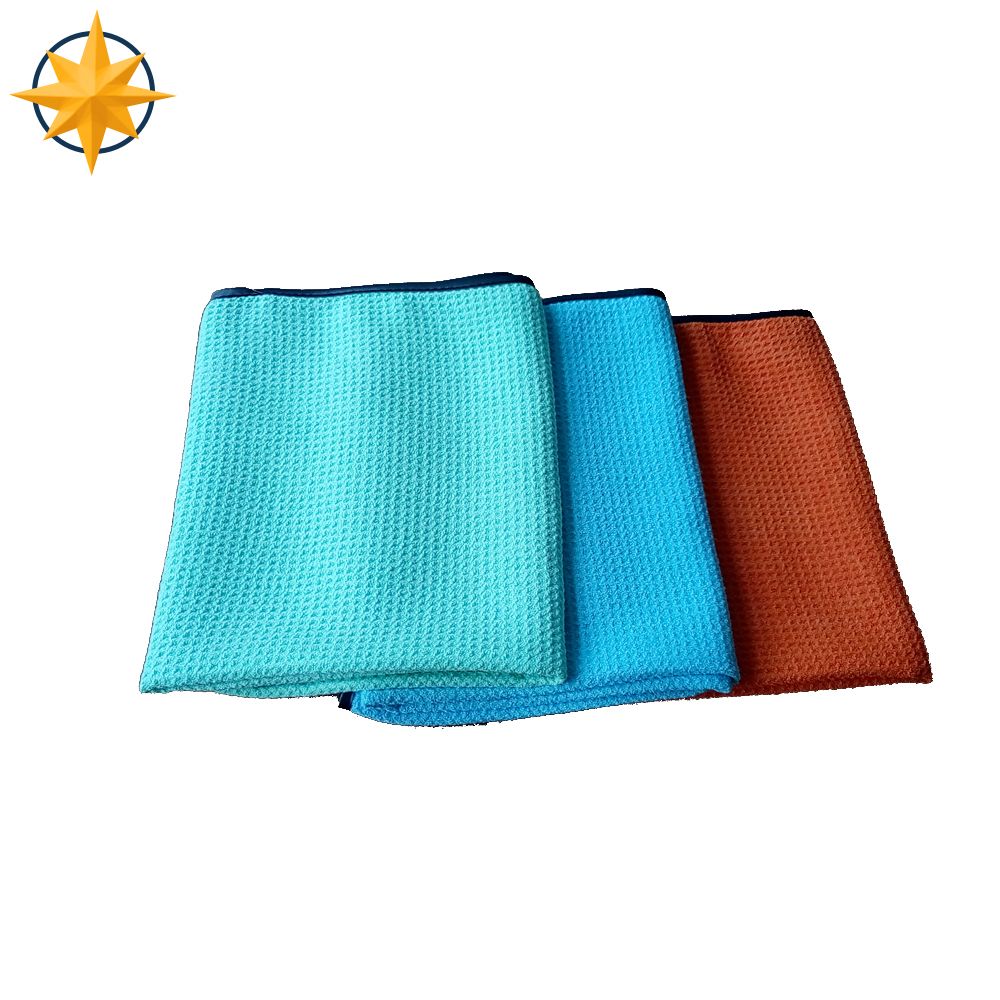 high absorption 400gsm waffle check microfiber towel