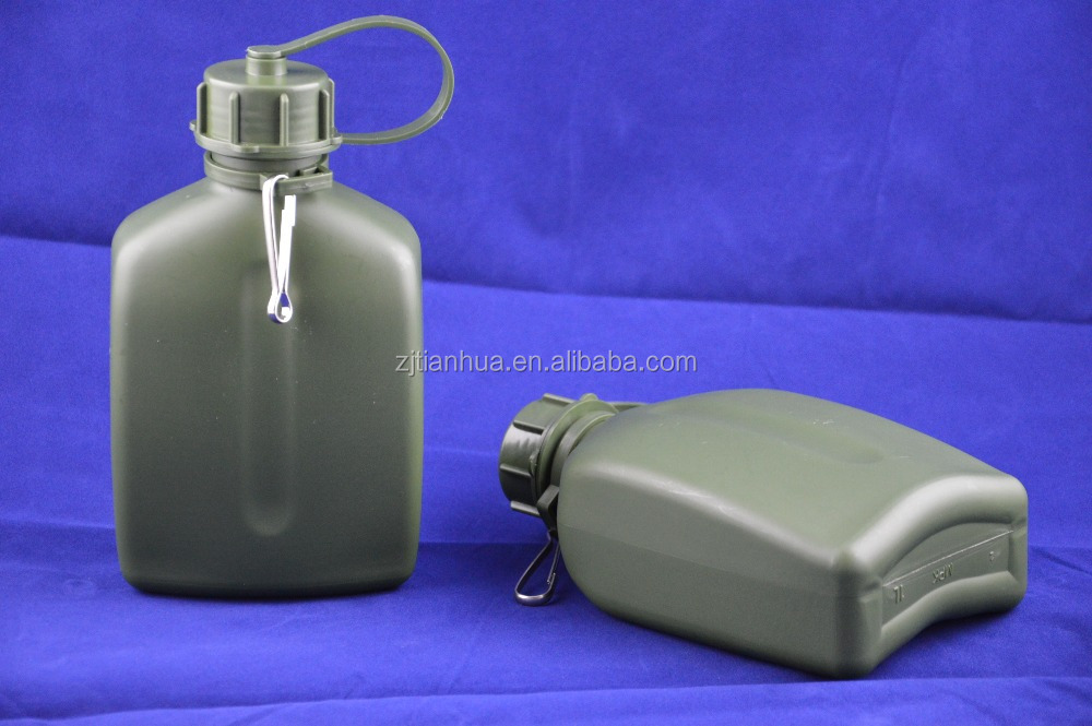 1L cheap plastic army camping carvan big water bottle for sale