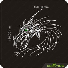 Crystal dragon hot fix motif rhinestone