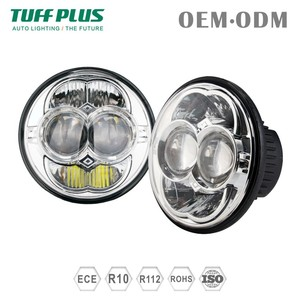 High quality E13 led 5 inch round sealed beam headlight for harley