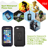 Waterproof plastic cell phone cases with Bike Mount Armband Buckle