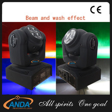 New Double Face RGBW 4in1 LED infinite rotating beam moving head club light ,40w Mini beam wash light
