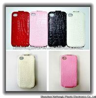 Leather phone cover case for iphone 4g/4s with excellent hand feeling